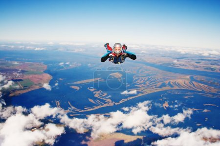 Photo for Skydiver in the. Parachuting is fun! - Royalty Free Image