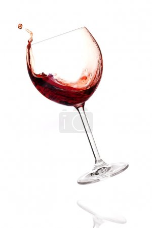 Wine collection - Red wine in falling gl