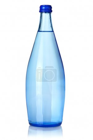 Photo for Glass bottle of soda water. Isolated on white background - Royalty Free Image