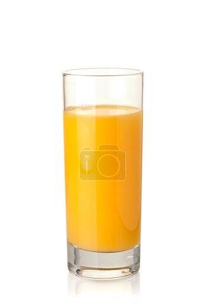 Photo pour Jus d'orange en verre highball. isolé sur fond blanc - image libre de droit