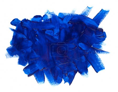 Photo for Blue paint stroke isolated on white background - Royalty Free Image