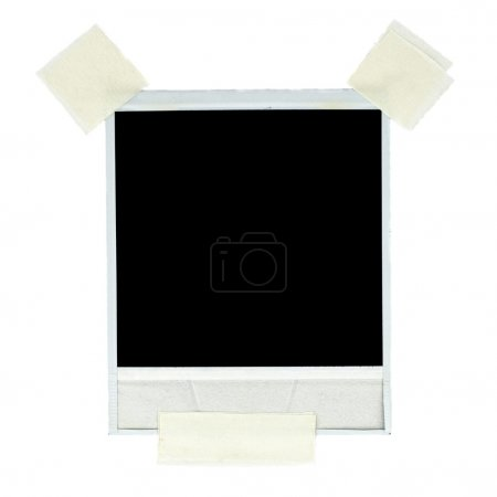 Blank photo card with masking tape