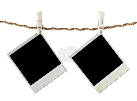 Photo pour Vierge photo instant suspendu à la corde à linge - image libre de droit