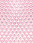Vector seamless pattern displaying flowers in a graphic retro style