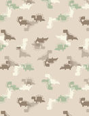 Four Little Dinos Camouflage II