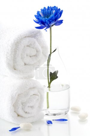 Spa concept (flower and towel).