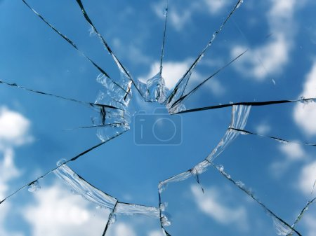 Glass broken window