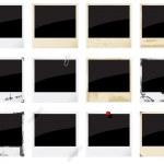 Empty instant photo frames