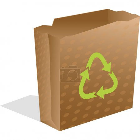 Recycling paper bag