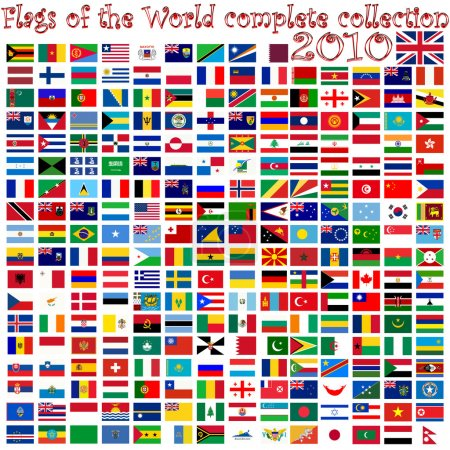 Flags of the world against white