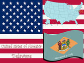 Delaware state illustration