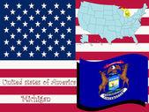 Michigan state illustration