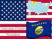 Montana state illustration abstract vector art