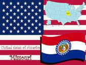 Missouri state illustration