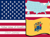 New jersey state illustration