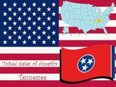 Tennessee state illustration
