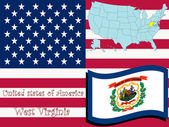 West virginia state illustration