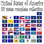 United states of america collection abstract vector art illustration