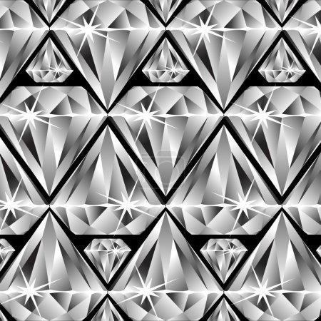 Illustration for Diamonds pattern, abstract vector art illustration - Royalty Free Image