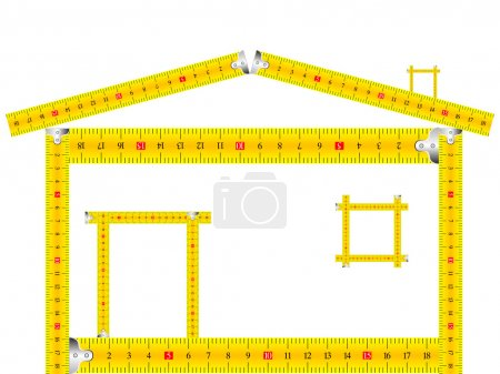 House made of measuring tape
