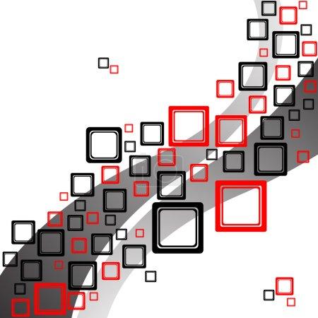 Squares retro pattern
