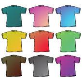 T košile kolekce proti bílé