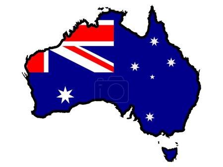 Illustration pour Couleurs de l'Australie - image libre de droit