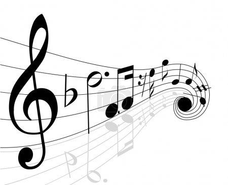 Photo pour Notes de musique - image libre de droit