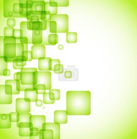 Illustration pour Abstrait vert arrondi fond carré eps10 - image libre de droit