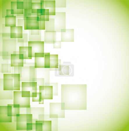 Photo for Abstract green square background eps10 - Royalty Free Image