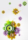 Summer flower with loudspeakers