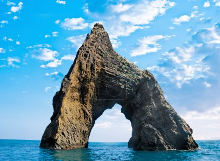 "Rock in the form of an arch in the sea - the Crimea ""Golden gate"""