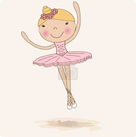 Cute small ballerina.
