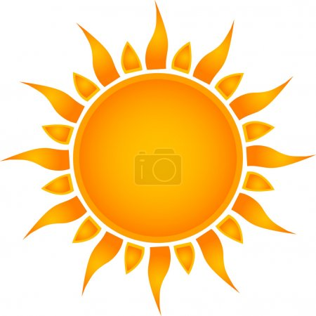 Illustration for Sun icon. Vector - Royalty Free Image