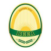 Návrh štítku pivo. vektorový formát