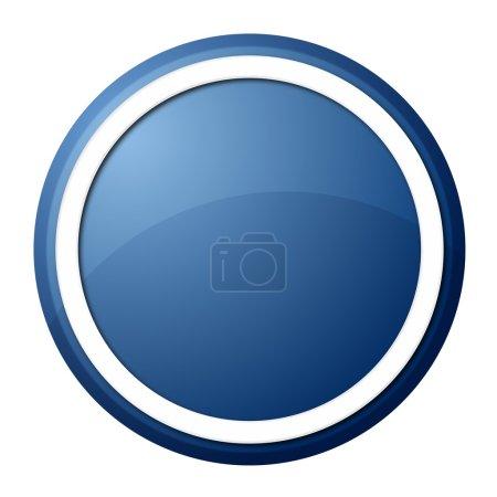 Photo pour Bouton rond avec anneau blanc pour la conception et la présentation web - image libre de droit