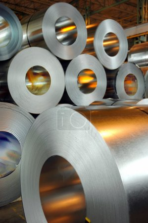 Photo for Steel rolls at the fabric - Royalty Free Image