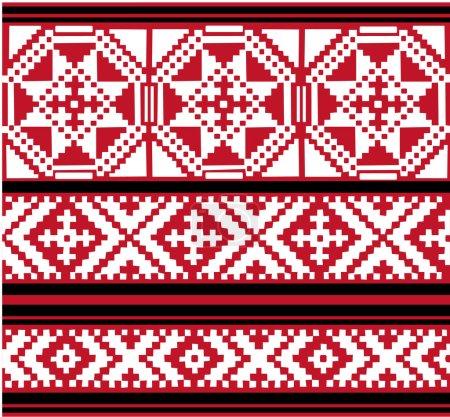 Illustration pour Vecteur authentiques motifs ethniques biélorusses - image libre de droit