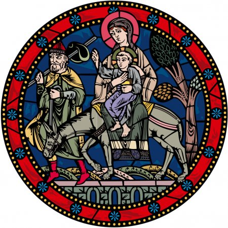 Photo for Authentic european medieval biblical image - Royalty Free Image