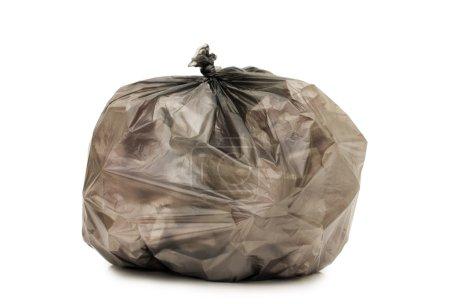 Photo pour Sac avec ordures isolées sur le blanc - image libre de droit