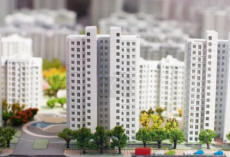 City miniature. At home and street