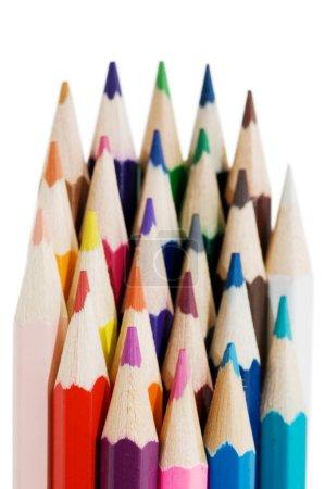 Photo pour Crayons de couleur isolés sur blanc - image libre de droit