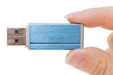 Foto de Impulsión del flash en mano aislado en blanco - Imagen libre de derechos