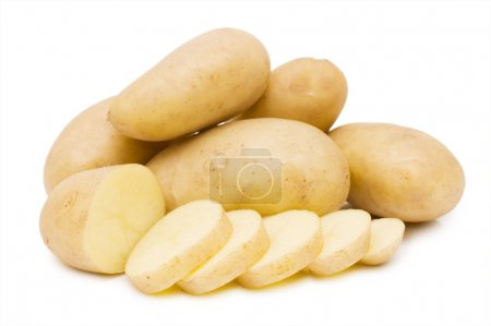 Photo for Fresh potato isolated on white - Royalty Free Image