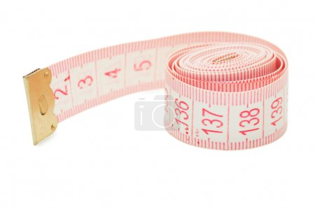 Centimetric tape isolated on white background