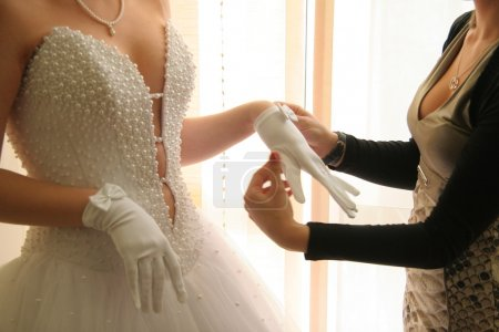 Photo pour Accessoires de la mariée - image libre de droit