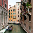 Venice Canal in summer with Gondola...