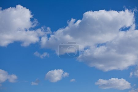 Photo for White clouds on the blue sky - Royalty Free Image