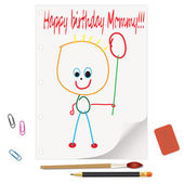 Happy birthday mommy! - an illustration for your design project