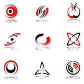 Design elements in red-grey colors #3 Vector illustration